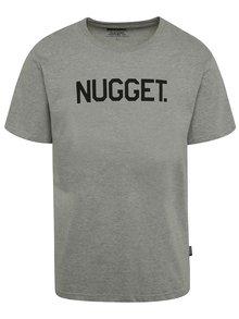 Sivé pánske tričko s potlačou NUGGET Logo