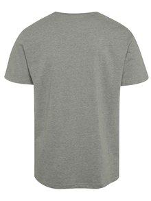 Tricou gri cu print NUGGET Logo pentru barbati