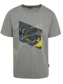 Sivé pánske tričko s potlačou NUGGET Chrono
