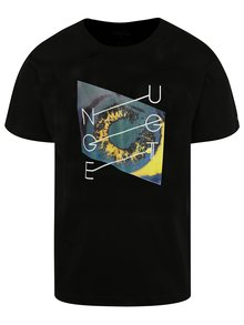 Čierne pánske tričko s potlačou NUGGET Chrono