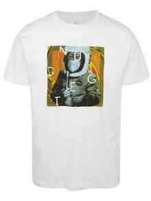 Biele pánske tričko s potlačou NUGGET Looper