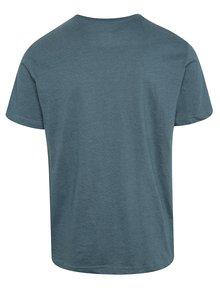 Modré pánske tričko s potlačou NUGGET Logo