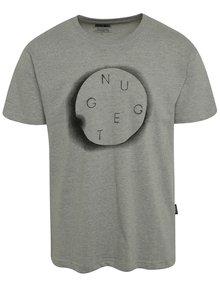Sivé pánske tričko s potlačou NUGGET Void