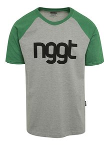 Tricou verde & gri cu print NUGGET Asset pentru bărbați