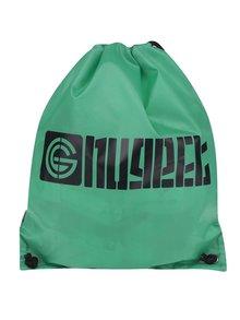 Zelený vak s potiskem NUGGET Brand