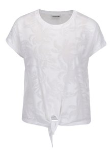 Tricou alb Noisy May Barton cu imprimeu