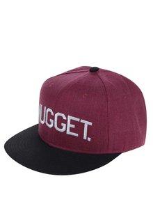 Șapcă negru & roșu burgund NUGGET Grain pentru bărbați