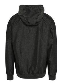 Tmavě šedá pánská lehká bunda s kapucí NUGGET Deploy