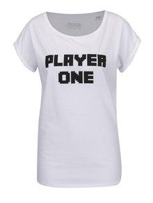 Bílé dámské tričko s krátkým rukávem ZOOT Originál Player one