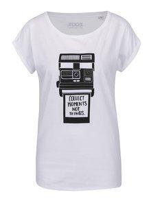 Biele dámske tričko s krátkym rukávom ZOOT Originál