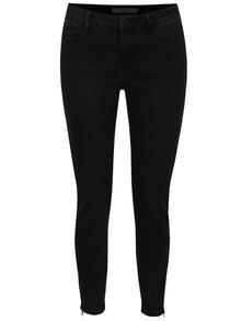 Černé džíny se zipy Vero Moda Seven