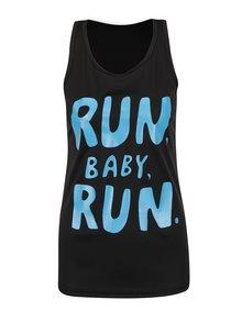 Maiou negru cu imprimeu ZOOT Original Run baby run, de damă