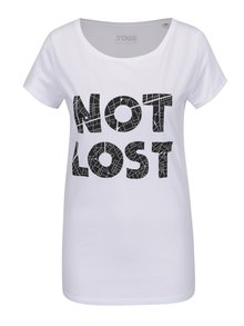 Tricou alb cu text ZOOT Original Not Lost de damă