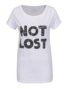 Biele dámske tričko s krátkym rukávom ZOOT Originál Not lost