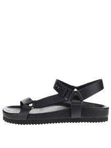 Čierne kožené sandále Selected Homme Hadam