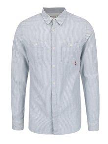 Bielo-modrá pruhovaná košeľa Jack & Jones Fu