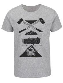 Šedé pánské triko s krátkým rukávem ZOOT Originál Sekyry