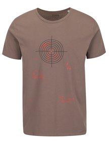 Hnědé pánské triko s krátkým rukávem ZOOT Originál divoká