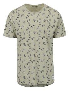Khaki triko s potiskem ONLY & SONS Simon