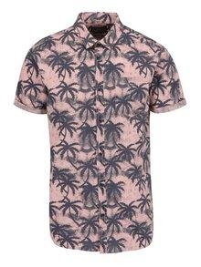 Černo-růžová vzorovaná košile s potiskem Jack & Jones Palm