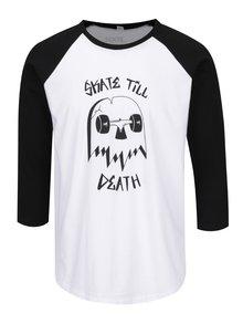Čierno-biele unisex tričko s 3/4 rukávom ZOOT Originál Skate till death