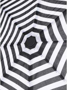 Umbrela pliabila cu dungi alb & negru -  Derby