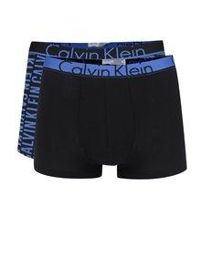 Sada dvou boxerek v modré a černé barvě Calvin Klein