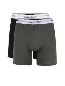 Sada dvou boxerek v černé a khaki barvě Calvin Klein