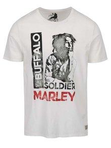 Krémové triko s potiskem Jack & Jones Bob Marley