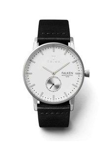 Ceas unisex argintiu&negru TRIWA Ivory Falken