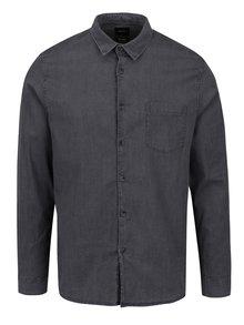 Sivá košeľa s dlhým rukávom Burton Menswear London