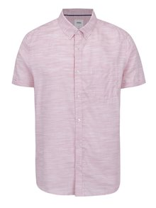 Ružová melírovaná košeľa Burton Menswear London
