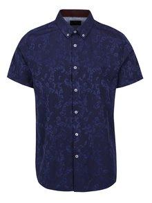 Cămașă albastră cu mâneci scurte Burton Menswear London cu model paisley