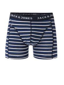 Tmavomodré pruhované boxerky Jack & Jones Calya