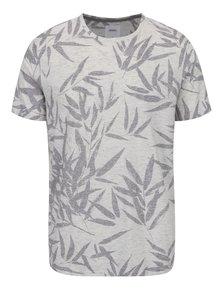 Krémové melírované triko so vzorom Burton Menswear London