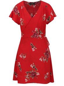 Rochie roșie AX Paris cu imprimeu floral