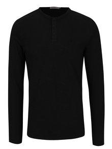 Čierna pánske tričko s dlhým rukávom Calvin Klein Jeans