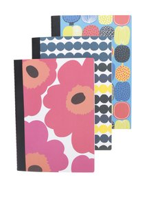 Set 3 caiete multicolore A5 Chronicle Marimekko