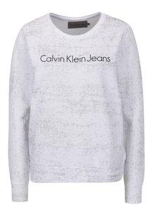 Dámska mikina v bielej a striebornej farbe Calvin Klein Jeans Harley