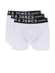 Súprava troch boxeriek v bielej farbe Jack & Jones Sense