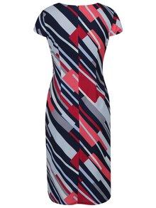 červeno-modré vzorované šaty Dorothy Perkins