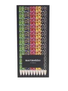 Sada deseti barevných vzorovaných tužek Chronicle Marimekko