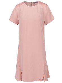 Ružové šaty s rozparkami Calvin Klein Jeans Dacia
