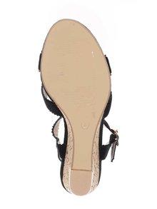 Černé sandály v semišové úpravě na klínku Dorothy Perkins