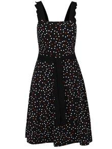 Černé šaty s potiskem srdíček a se zavazováním v pase Dorothy Perkins