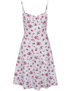 Rochie albă Dorothy Perkins Tall cu imprimeu floral