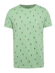 Tricou verde deschis Blend cu model geometric