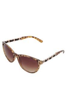 Hnědé sluneční brýle s detaily ve zlaté barvě Gionni