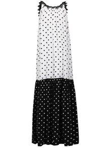 Čierno-biele bodkované maxišaty NISSA