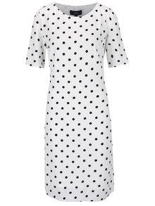 Černo-bílé puntíkované šaty NISSA
